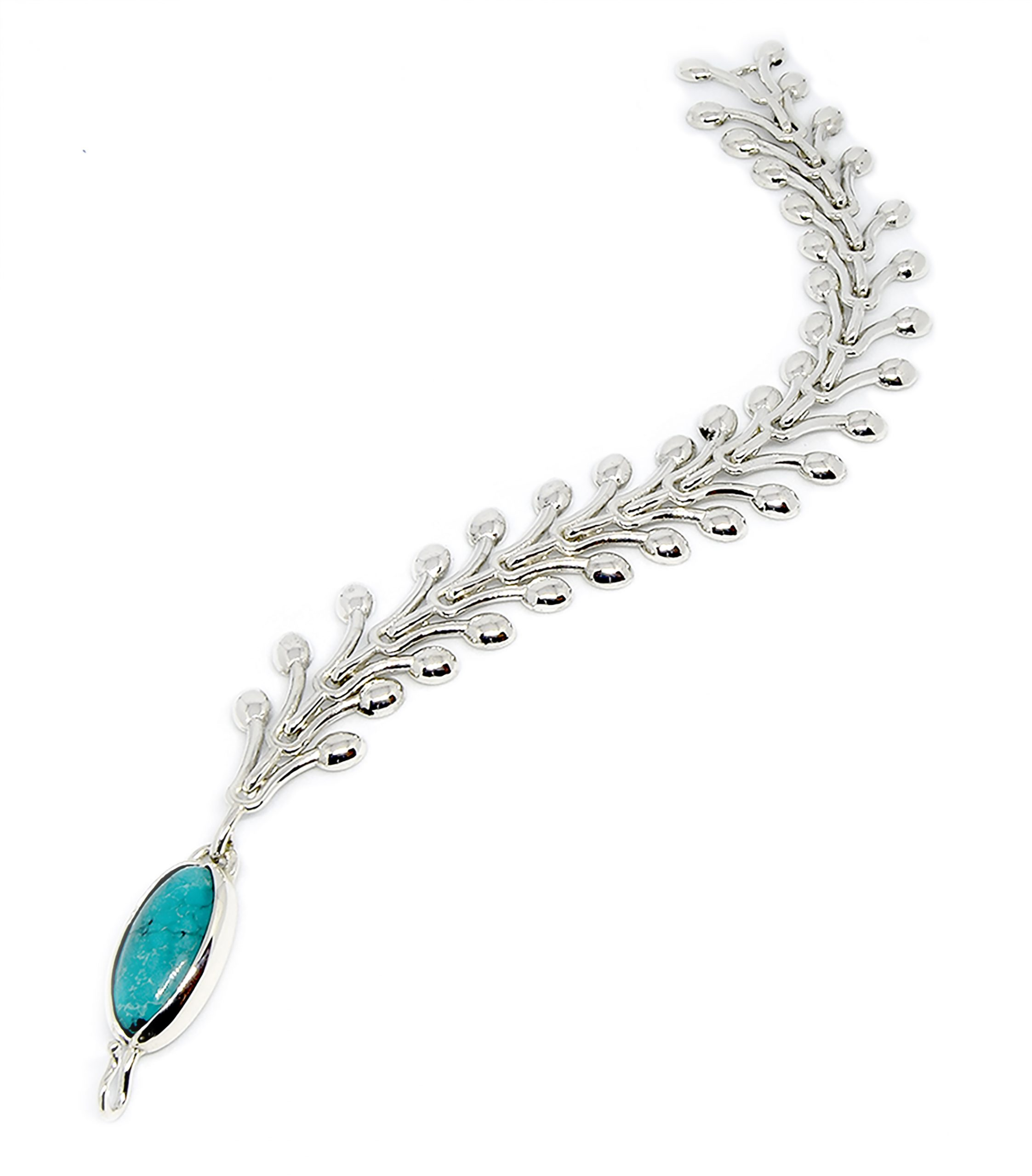 Serena Fox - Pod Seaweed Bracelet with Chinese Turquoise