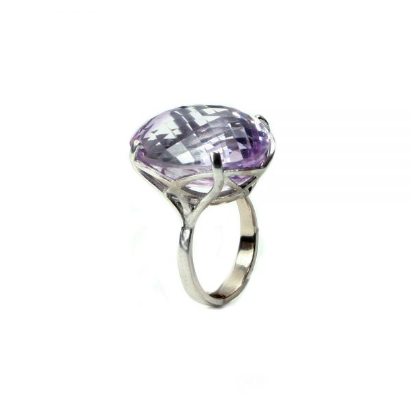 Serena Fox jewellery Infinity Ring Lilac Amethyst ring, 31.79cts 18W