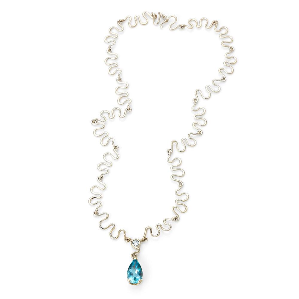 Serena Fox Jania Ring sapphire and diamonds