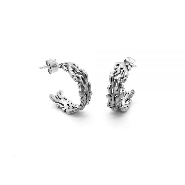Serena Fox Marine Seaweed Earrings 18ct White Gold