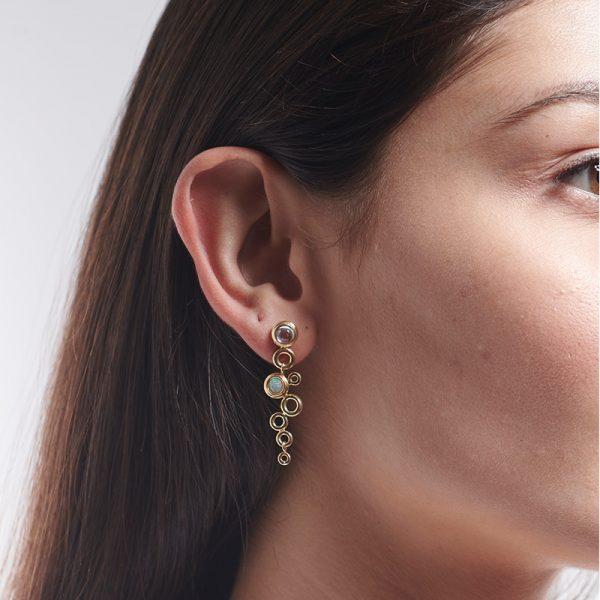 Serena Fox Ocean Foam Earrings