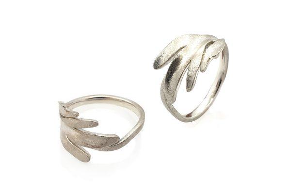 Serena Fox Pinnata Ring Sterling Silver