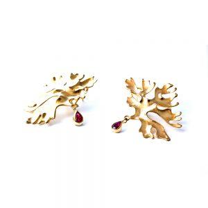 Serena Fox Marine Seaweed Earrings