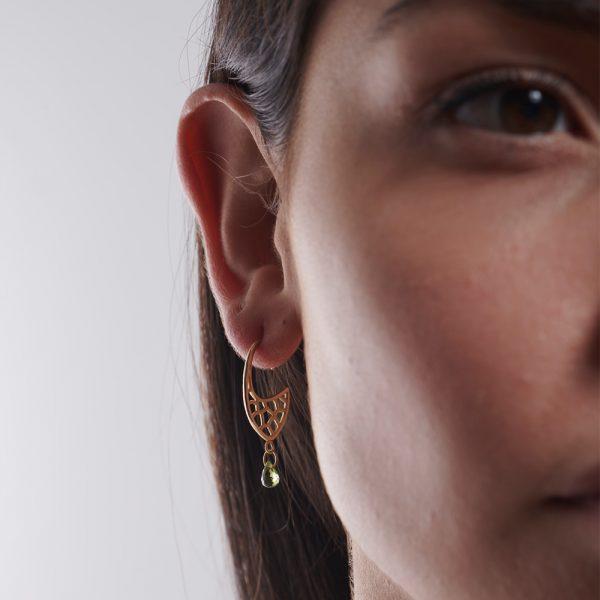 Serena Fox Atlantis Shield Earrings