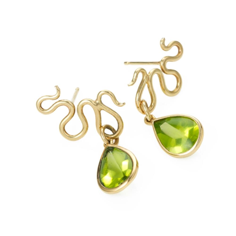 Serena Fox Peridot River Earrings