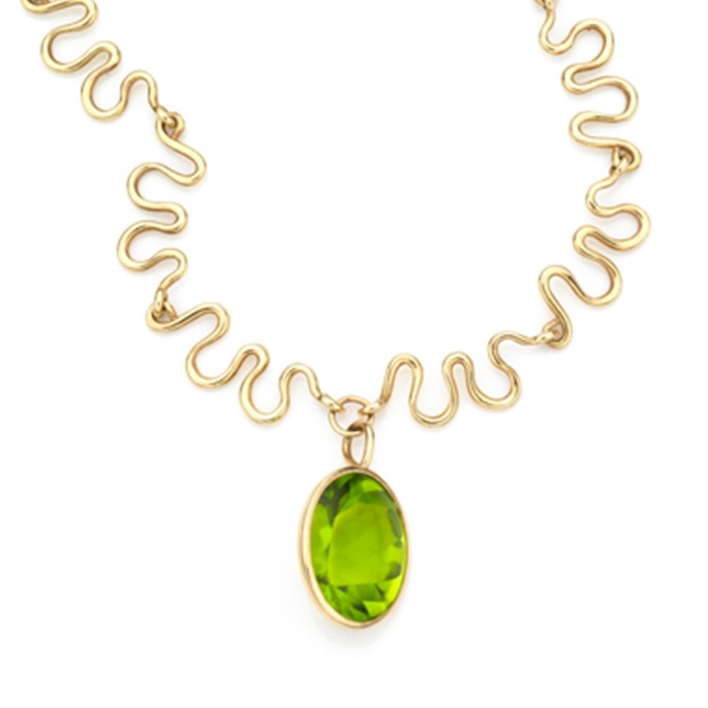 Serena Fox River Peridot Necklace