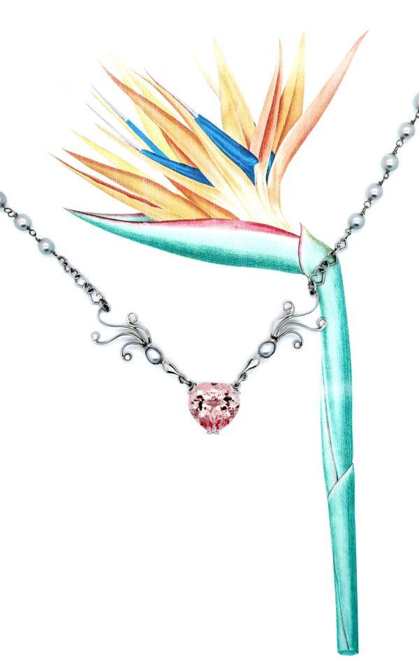 Serena Fox Bird of Paradise Necklace