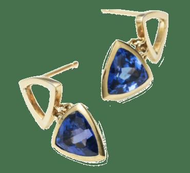 Serena Fox jewellery designer Mystic Tanzanite earrings