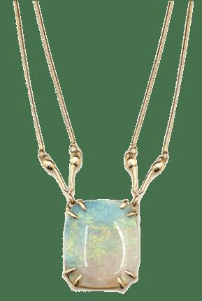 Serena Fox jewellery designer Seahorse Necklace isolated