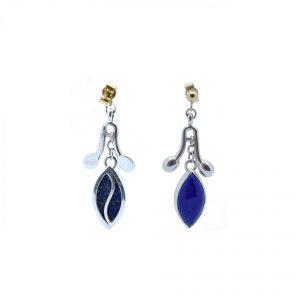 Serena Fox Jewellery Sea Pod Earrings with Lapis